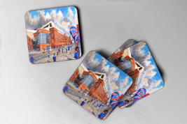 ibrox going to the match Coaster set of four